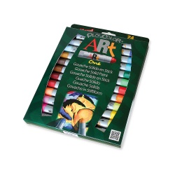 Sticks de Peinture Gouache Solide pour les Artistes 10 g - 24 couleurs assorties - Playcolor Art One - 58251