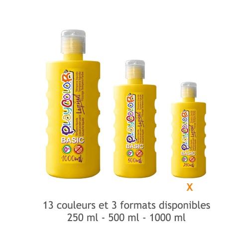 Peinture Gouache Liquide Basic 250ml. - Jaune - Playcolor - 19211