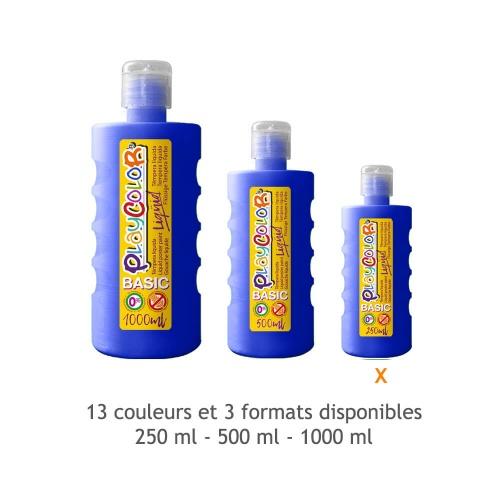 Peinture Gouache Liquide Basic 250ml. - Bleu Foncé - Playcolor - 19291