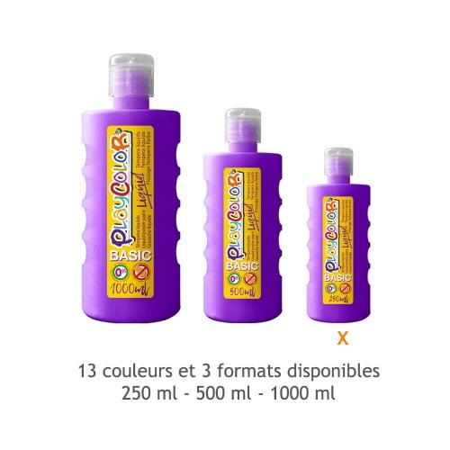 Peinture Gouache Liquide Basic 250ml. - Violet - Playcolor - 19301
