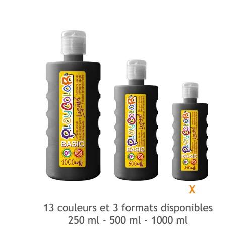 Peinture Gouache Liquide Basic 250ml. - Noir - Playcolor - 19321