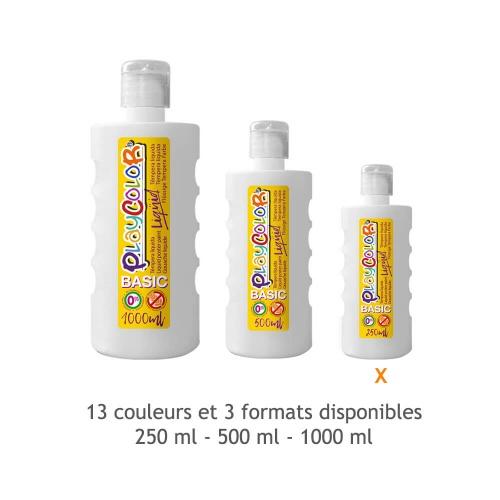 Peinture Gouache Liquide Basic 250ml. Blanc - Playcolor - 19201