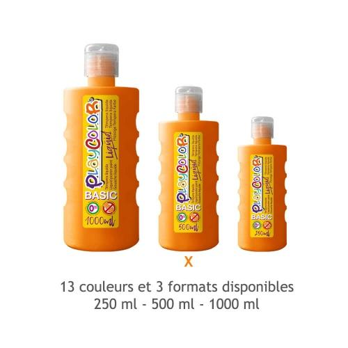 Peinture Gouache Liquide Basic 500ml. - Orange - Playcolor - 19361