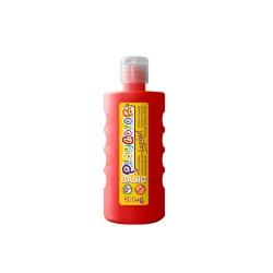 Peinture Gouache Liquide Basic 500ml. Rouge - Playcolor - 19371