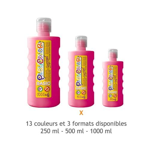 Peinture Gouache Liquide Basic 500ml. - Fushia - Playcolor - 19391