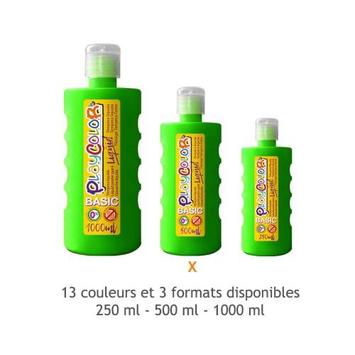 Peinture Gouache Liquide Basic 500ml. - Vert Foncé - Playcolor - 19411