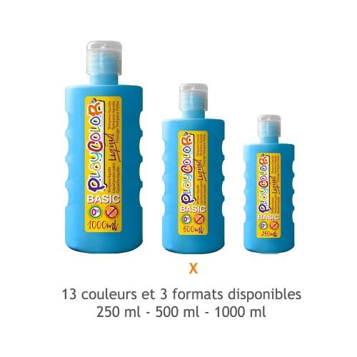 Peinture Gouache Liquide Basic 500ml. - Bleu Clair - Playcolor - 19421