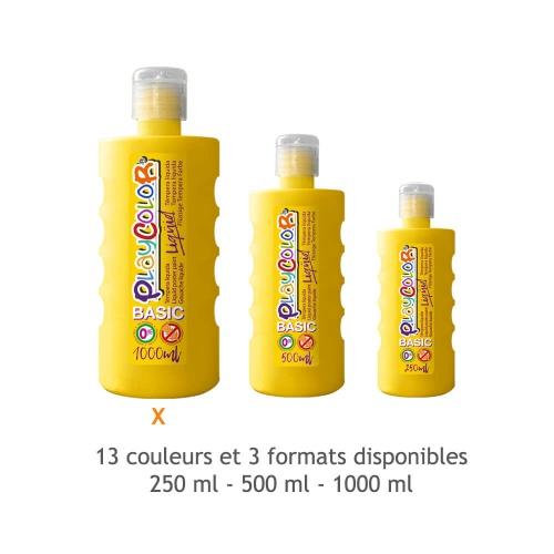 Peinture Gouache Liquide BASIC 1000ml. - Jaune - Playcolor - 19491