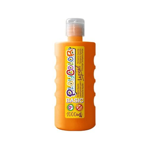 Peinture Gouache Liquide Basic 1000ml. Orange - Playcolor - 19501