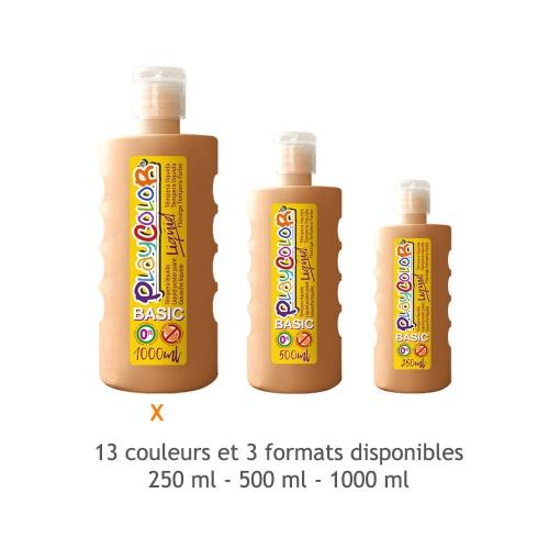 Peinture Gouache Liquide Basic 1000ml. - Peau - Playcolor - 19521