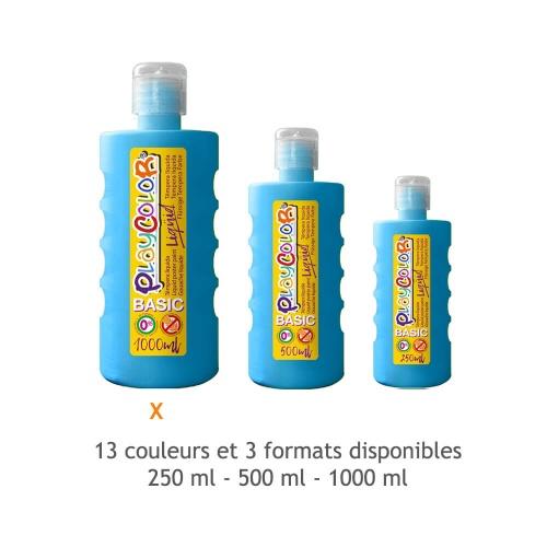 Peinture Gouache Liquide Basic 1000ml. - Bleu Clair - Playcolor - 19561
