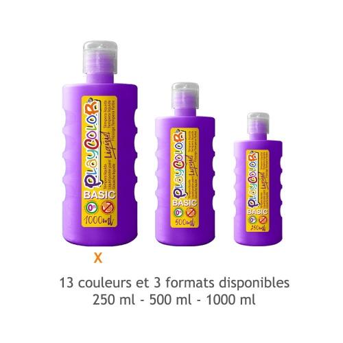 Peinture Gouache Liquide Basic 1000ml. - Violet - Playcolor - 19581