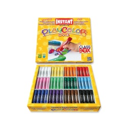 Sticks de Peinture Gouache Solide 10g - Playcolor Basic One Class Box - 144 pcs - couleurs assorties - 10901