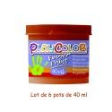 Lot de 6 pots de peinture au doigt - 40 ml. Monocouleur MARRON - FINGER PAINT BASIC
