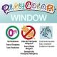 Sticks de Peinture Gouache Solide 10g pour Fenêtre, Céramique ou Miroir - 6 Couleurs Assorties - Window One - Playcolor - 02001