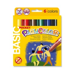 Stylos de peinture gouache solide 5g - BASIC POCKET - 6 couleurs assorties