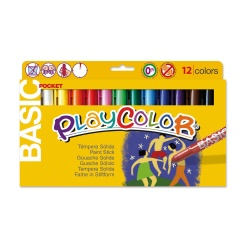 Stylos de peinture gouache solide 5g - BASIC POCKET - 12 couleurs assorties