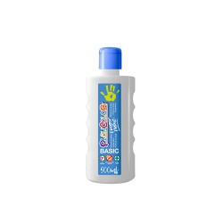Bidon Peinture au doigt - 500 ml. Couleur Blanc - Playcolor - Finger Basic Paint – 17701