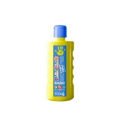 Bidon Peinture au doigt - 500 ml. Couleur Jaune - Playcolor - Finger Basic Paint – 17711