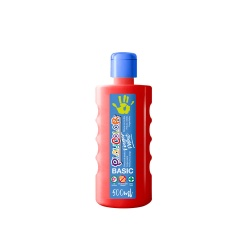 Bidon Peinture au doigt - 500 ml. Couleur Rouge - Playcolor - Finger Basic Paint – 17721