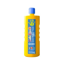Bidon Peinture au doigt - 1000 ml. Couleur Jaune - Playcolor - Finger Basic Paint – 17811