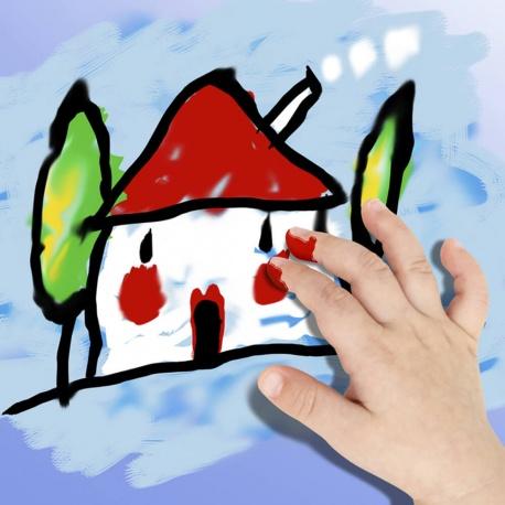 Bidon Peinture au doigt - 1000 ml. Couleur Rouge - Playcolor - Finger Basic Paint – 17821