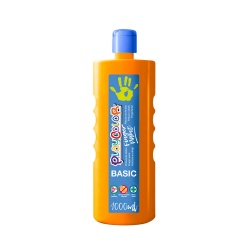 Bidon Peinture au doigt - 1000 ml. Couleur Orange - Playcolor - Finger Basic Paint – 17831