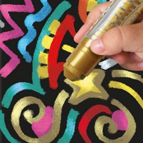 Sticks de Peinture Gouache Solide 10g - Playcolor Metallic One - 12 couleurs assorties - 10121