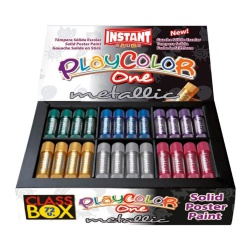Sticks de Peinture Gouache Solide 10g - Playcolor Metallic One Class Box - 72 couleurs assorties - 10371