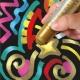 Sticks de Peinture Gouache Solide 10g - Playcolor Metallic One Class Box - 72 couleurs assorties - 10371