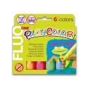 Sticks de peinture gouache solide 10g - FLUO ONE - 6 couleurs assorties