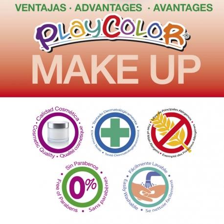Sticks de Maquillage Sans Parabènes 10g - Playcolor Make Up Metallic Pocket - 6 couleurs métalliques assorties - 01011