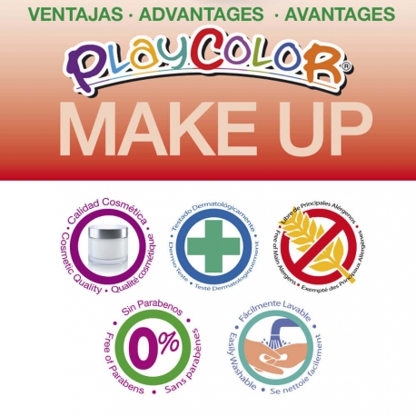 Sticks de Maquillage Sans Parabènes 10g - Playcolor Make Up Basic Pocket - Bleu - 6 pcs - 01015