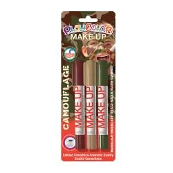 Sticks Maquillage Sans Parabènes 10g - Playcolor Make Up - Camouflage - 3 pcs - 01040