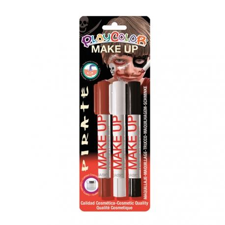 Sticks de Maquillage Sans Parabènes 10g - Make Up - Thème Pirate - 3 pcs - Playcolor - 01042