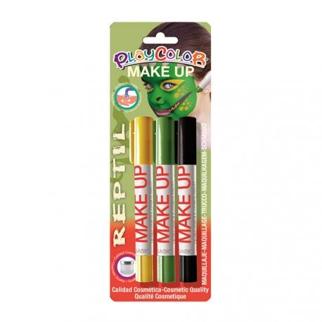 Sticks de Maquillage Sans Parabènes 10g - Make Up - Thème Reptile - 3 pcs - Playcolor - 01045