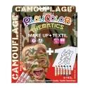 Pack 3-en-1 - Maquillage + T-Shirt à peindre + Stick de peinture pour textile - Thème CAMOUFLAGE