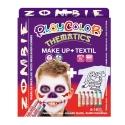 Pack 3-en-1 - Maquillage + T-Shirt à peindre + Stick de peinture pour textile - Thème ZOMBIE