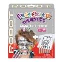 Pack 3-en-1 - Maquillage + T-Shirt à peindre + Stick de peinture pour textile - Thème ROBOT