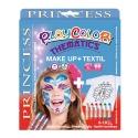 Pack 3-en-1 - Maquillage + T-Shirt à peindre + Stick de peinture pour textile - Thème PRINCESS