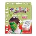 Pack 3-en-1 - Maquillage + T-Shirt à peindre + Stick de peinture pour textile - Thème REPTIL