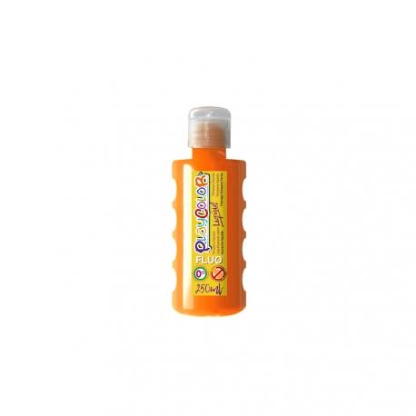 Peinture Gouache Liquide Fluo 250ml. Orange - Playcolor - 19641