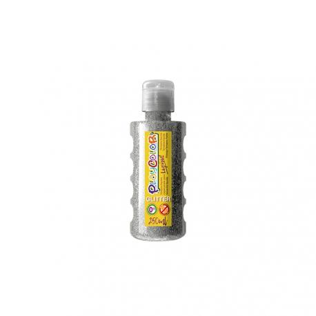 Peinture Gouache Liquide Brillant 250ml. Argent - Playcolor - 19141