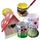 Bidon Peinture Liquide Acrylique 250 ml. - Couleur Rouge - Playcolor - Acrylic Basic - 18541