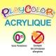 Bidon Peinture Liquide Acrylique 250 ml. - Couleur Bleu Clair - Playcolor - Acrylic Basic - 18571