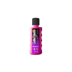 Bidon Peinture Liquide Acrylique 250 ml. - Couleur Fushia - Playcolor - Acrylic Basic - 18591