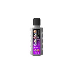 Bidon Peinture Liquide Acrylique 250 ml. - Couleur Argent - Playcolor - Acrylic Basic - 18631