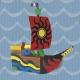 Pack Pirate 2-en-1 PLAYCOLOR - 6 sticks de gouache solide 10g + bateau à peindre