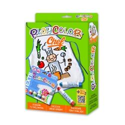 Pack 2-en-1 avec 1 Tablier de 55 x 65 cm + Playcolor Textil One - 6 Sticks de peinture gouache solide 10 g - 11401