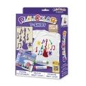 Pack T-Shirt 2-en-1 - 6 sticks de peinture pour textile PLAYCOLOR + t-shirt pochoir - ART & CRAFT